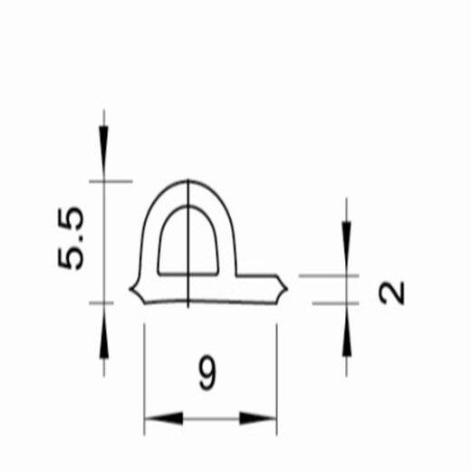 TOP MULTI Fenster- und Türdichtung P-Profil 9mm x 5,5mm WEISS Länge 20m