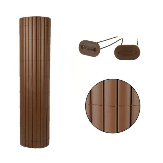 TOP MULTI Sichtschutz Windschutz PVC MAKASSAR Größe 1,0m x 5m