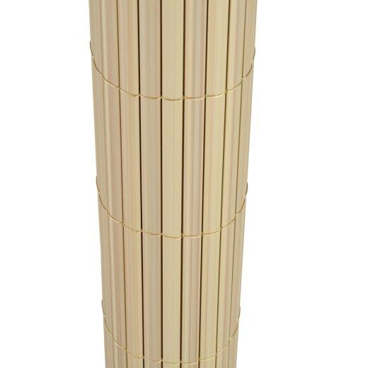 TOP MULTI Sichtschutz Windschutz PVC NATURAL-BAMBOO Größe 0,8m x 5m