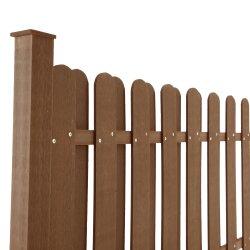 TOP MULTI WPC Sichtschutz Zaun Gartenzaun mit Pfosten in braun oder anthrazit