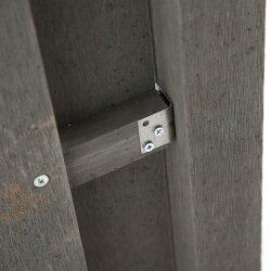 TOP MULTI WPC Sichtschutzelement mit Pfosten anthrazit 3 Stück