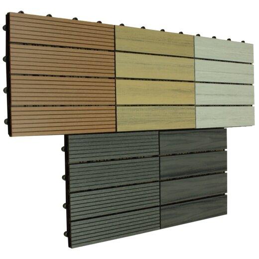 TOP MULTI WPC Fliesen 30 x 30cm in 2 verschiedenen Ausführungen und drei Farben