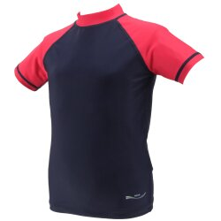 TOP MULTI Kinder-UV-Shirt blau/rot Gr. 98/104