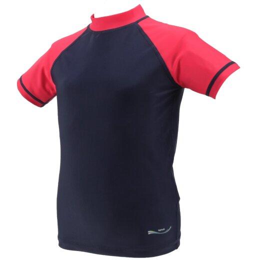 TOP MULTI Kinder-UV-Shirt blau/rot Gr. 122/128
