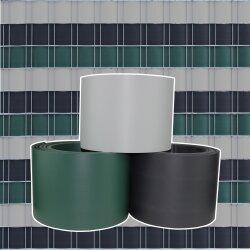 TOP MULTI Sichtschutzstreifen aus formstabilem PVC  in anthrazit - 5 Streifen