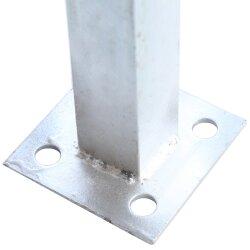 TOP MULTI WPC Zaun in anthrazit 180 cm 2 Hauptelemente