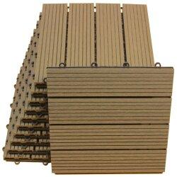 TOP MULTI WPC Fliesen 30 x 30cm braun standard 1 m²