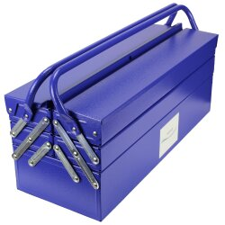 TOP MULTI tragbare Werkzeugkiste Werkzeugbox aus blauem...
