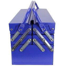 TOP MULTI tragbare Werkzeugkiste Werkzeugbox aus blauem Stahlblech