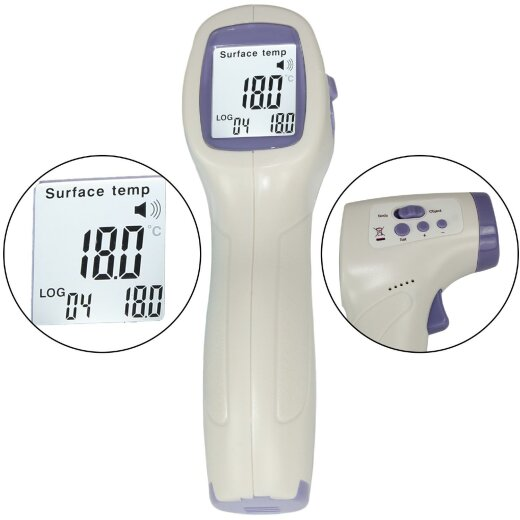 TOP MULTI Digitales Fieberthermometer kontaktlos Infrarot...