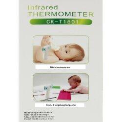 TOP MULTI Digitales Fieberthermometer kontaktlos Infrarot Temperaturmessgerät