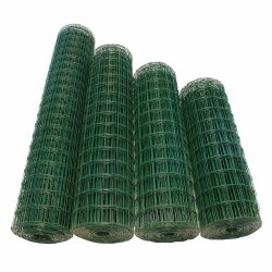 TOP MULTI Maschendrahtzaun Wildzaun Gartenzaun PVC-beschichtet GRÜN 76mm x 63mm 0,8m x 25,0m
