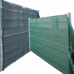 TOP MULTI Tennissichtschutz Tennisnetz Bauzaun Gartenzaun ANTHRAZIT 1,0m x 10m